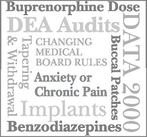 Buprenorphine: Keeping Up with the Changing Landscape of Office Based Opioid Treatment Banner