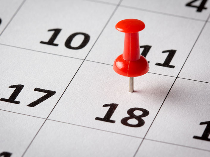Close-up of date on calendar